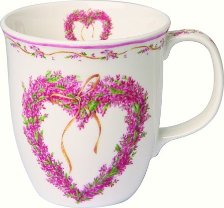 "IHR Country Becher ""SWEET COUNTRY HOME"" Fine Bone China Porzellan 375ml"