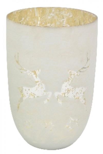 WindLicht Vitreous, weißmatt, Glas, 15 x15 x21 cm