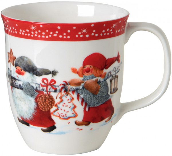 """""""NIELS AND INGER RED"""" IHR Bone China Country Becher 375ml"""