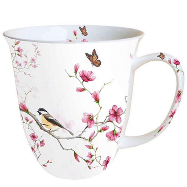 """Bird & Blossom"" Ambiente Fine Bone China Becher 400ml"