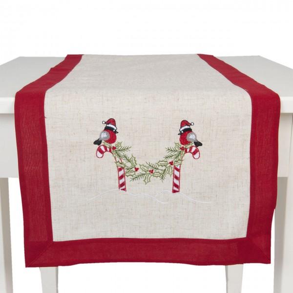 """Clayre & Eef Tischläufer """"Sugar Birds"""" 40 x 120 cm"""