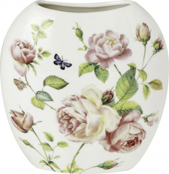 "IHR Porzellan Vase ""NEW RAMBLING ROSE"" B 12,5 x H 13 x T 3,5 cm"