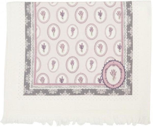 "Clayre & Eef Handtuch Gästehandtuch ""Lavendel"" 40 x 60 cm"