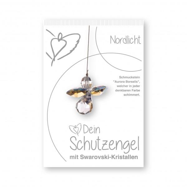"""""""Nordlicht"""" Schutzengel mit echten Swarovski-Kristallen"""