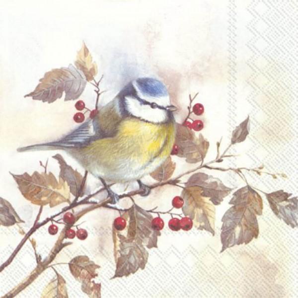 """Lunch Servietten """"SWEET LITTLE BIRD"""" 33 x 33 cm"""