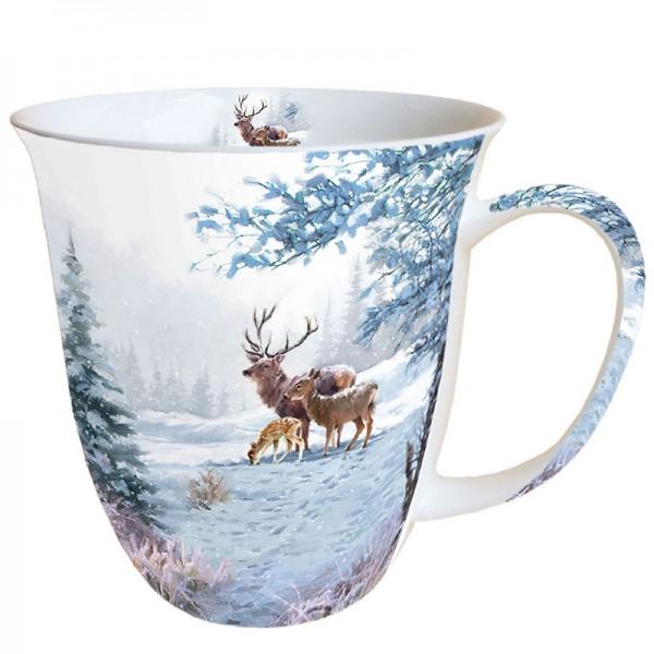 "Ambiente Fine Bone China Becher ""Deer Family"" 400ml"