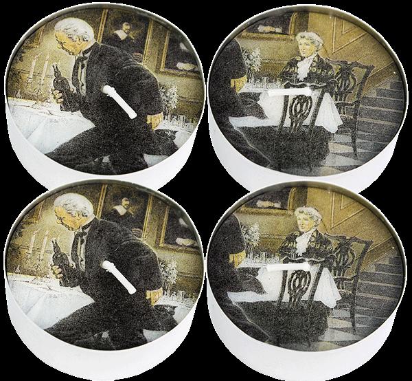"4er Set MaxiLicht ""Dinner for One"" 10h (4 Stück)"