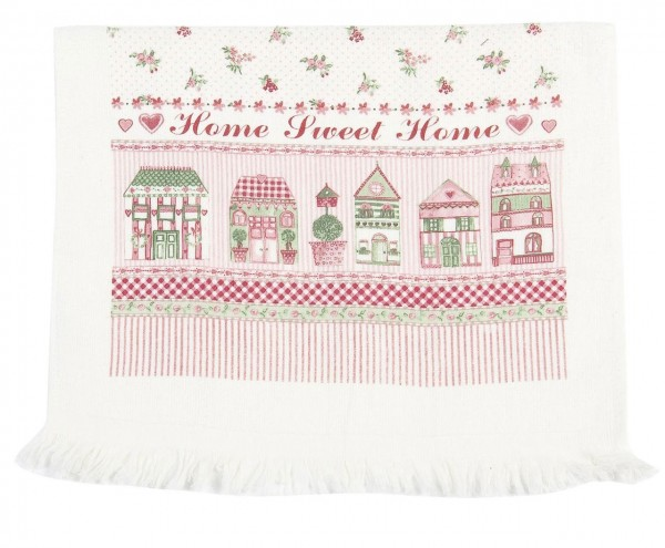 "Clayre & Eef Handtuch Gästehandtuch ""Home Sweet Home"" 40 x 60 cm"