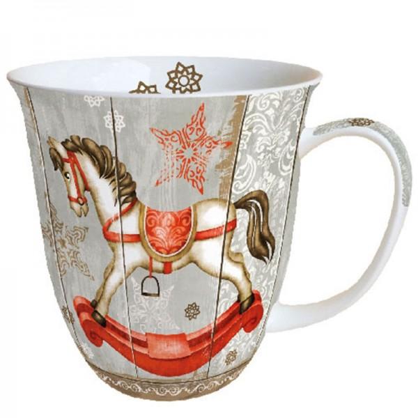 """Rocking Horse"" Ambiente Fine Bone China Becher 400ml"