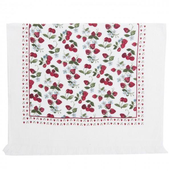 """Clayre & Eef Handtuch Gästehandtuch """"Strawberries"""" 40 x 60 cm"""