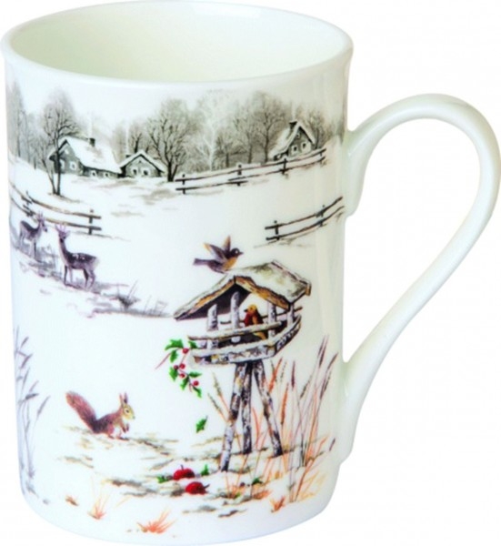 "IHR Bone China Becher ""SNOWY GARDEN"" 375ml"