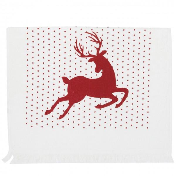 """Clayre & Eef Handtuch Gästehandtuch """"Hello Deer"""" 40 x 60 cm"""