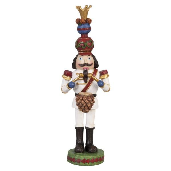 Nussknacker / Soldat mit Krone 21 cm