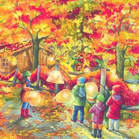 """IHR Lunch Servietten """"Sankt Martin"""" 33 x 33 cm"""