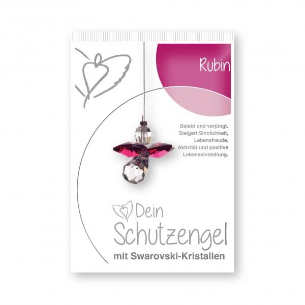 """""""Rubin"""" Schutzengel mit echten Swarovski-Kristallen"""