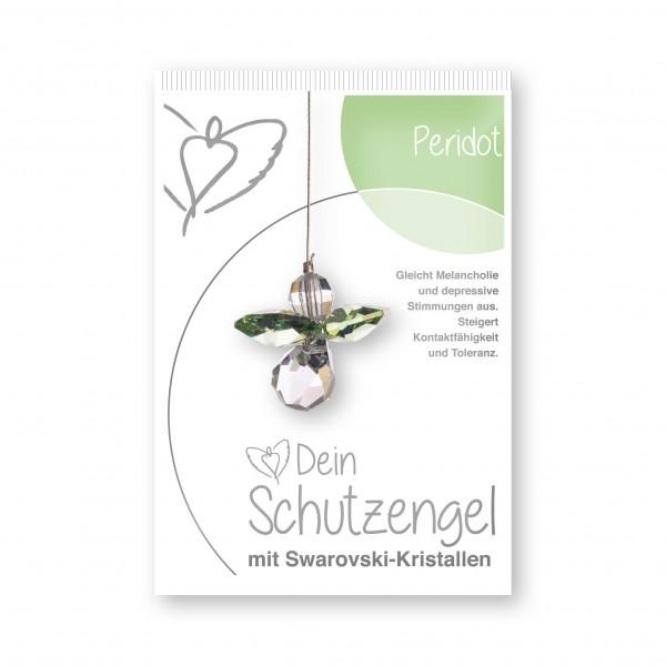 """""""Peridot"""" Schutzengel mit echten Swarovski-Kristallen"""