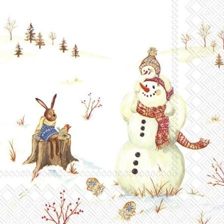 """""""Happy Winter Day"""" IHR Cocktail Servietten 25 x 25 cm"""