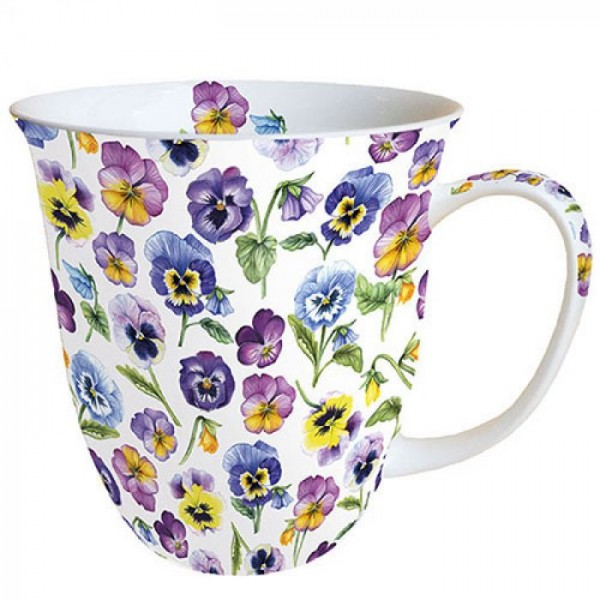 """""""Pansy All Over"""" Ambiente Fine Bone China Becher 400ml"""