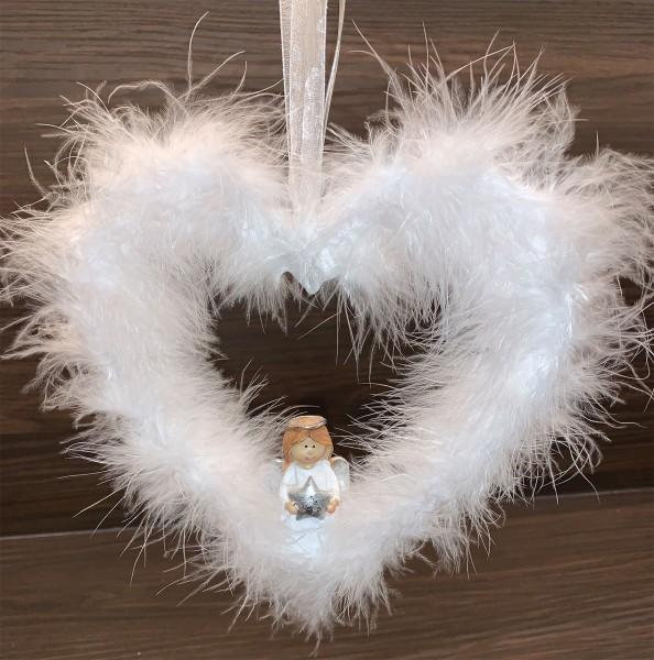 Plüschhänger Engel im Herz LED 19 x 2 x 20cm