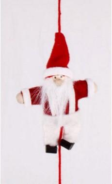 "Wichtelkette ""Santa Vincent"" 160cm 5 Figuren / 6 Filzbällchen"