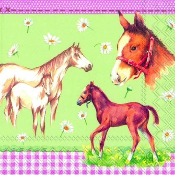 """IHR Lunch Servietten """"MY LITTLE HORSE"""" 33 x 33 cm"""