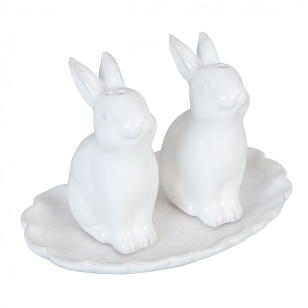 "Clayre & Eef 6CE0648 Salz & Pfeffer ""Hase"" 12 x 8 x 8 cm Keramik"