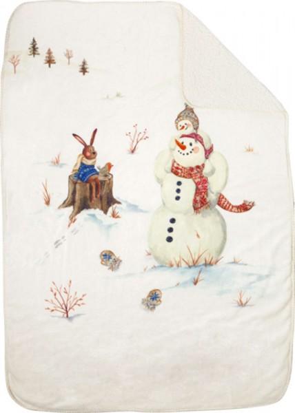 """Happy Winter Day"" Wohndecke 100 x 140 cm"