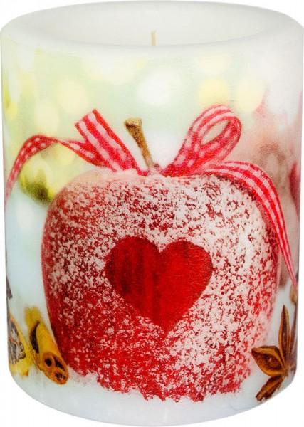 """""""Candy Apple"""" dänische Windlicht-Kerze groß 100h Ø10cm H12cm"""
