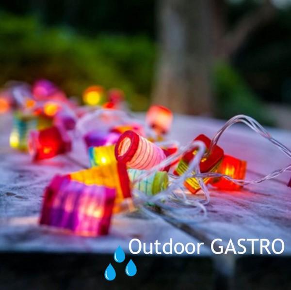 """Lampionkette """"Lampions bunt"""" 35 Led 4,5m outdoor GASTRO"""