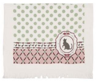 Gästehandtuch Katze 40 x 60 cm Baumwolle