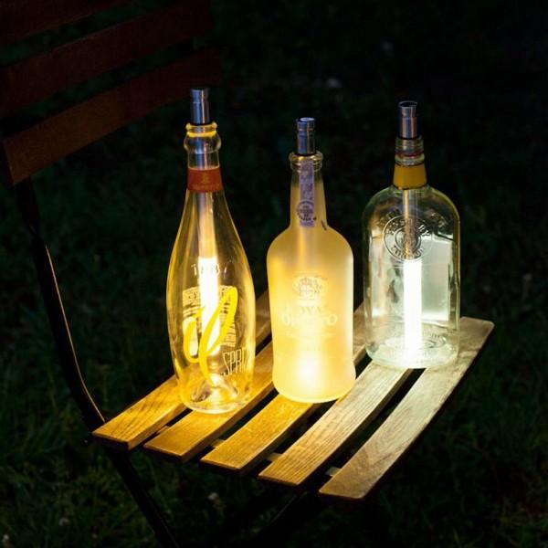 Bottlelight Stableuchte LED weiss in Geschenkverpackung wasserdicht/regenfest