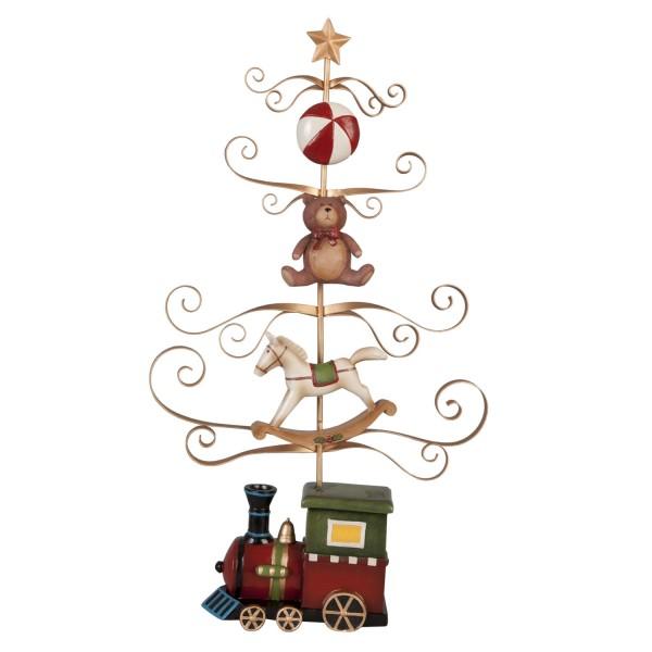 Weihnachtsbaum mit Lokomotive 26 x 6 x 43 cm Clayre & Eef