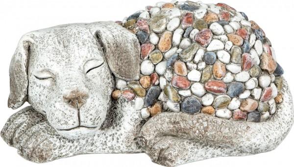"Gartenfigur ""Hund liegend"" Magnesia 36 x 17cm"
