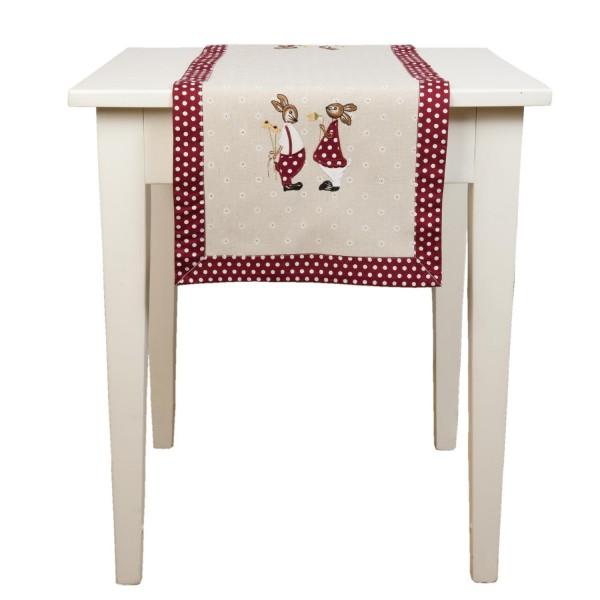 Clayre & Eef S003.065 Tischläufer Ostern mit Hasen 40 x 120 cm