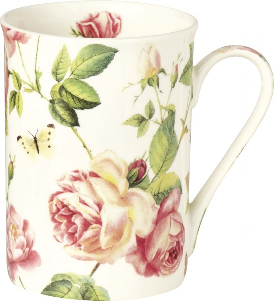 "IHR Bone China Becher ""NEW RAMBLING ROSE"" 375ml"