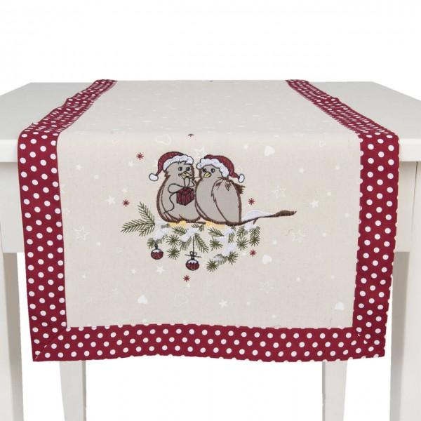 """Clayre & Eef Tischläufer """"Lovely Birds"""" 40 x 120 cm"""