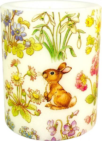 """Windlicht-Kerze """"Snoopy little Rabbit"""" Größe S / XL"""