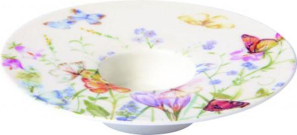 "IHR Porzellan Teelichthalter ""BUTTERFLIES AND BLOSSOMS"" Ø13 x 3 cm"
