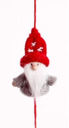 """Wichtelkette """"Santa Noel"""" 160cm 5 Figuren / 6 Filzbällchen"""