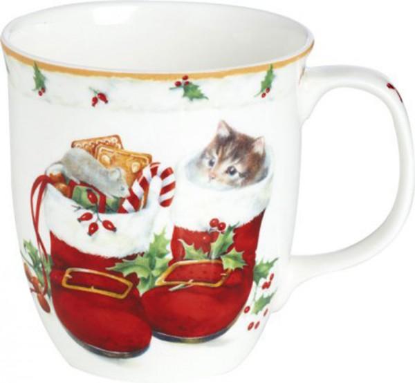 """Sweet Christmas Boots"" IHR Bone China Country Becher 375ml"