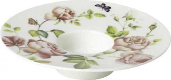 """IHR Porzellan Teelichthalter """"NEW RAMBLING ROSE"""" Ø 13 x H 3 cm"""