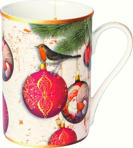 "IHR Bone China Becher ""CHRISTMAS BAUBLES"" 375 ml"