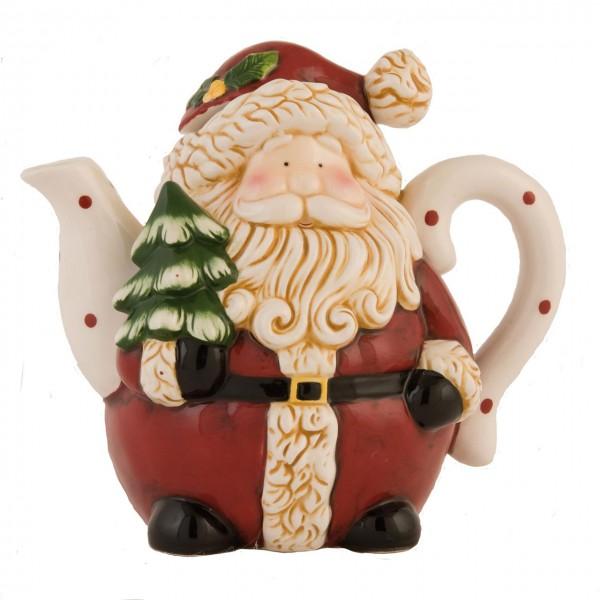 """Kanne Teekanne """"Weihnachtsmann Santa"""" 22 x 16 x 3 cm"""