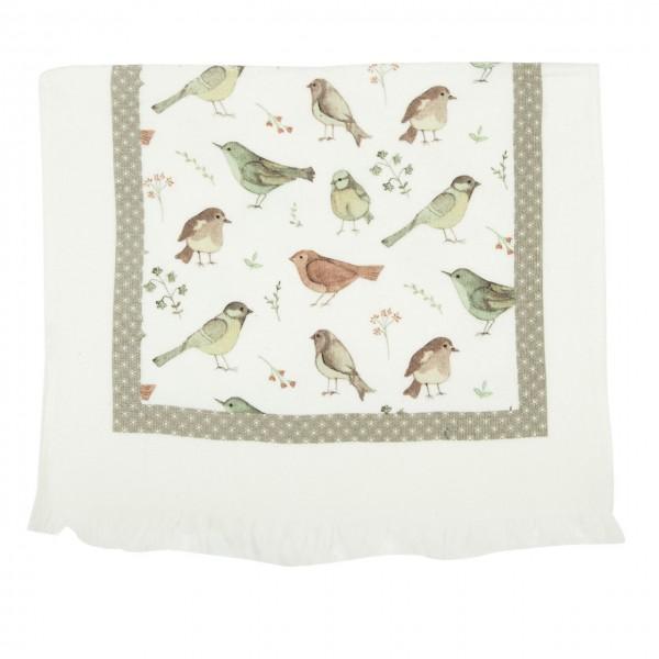 """Clayre & Eef Handtuch Gästehandtuch """"Lovely Birds"""" 40 x 60 cm"""