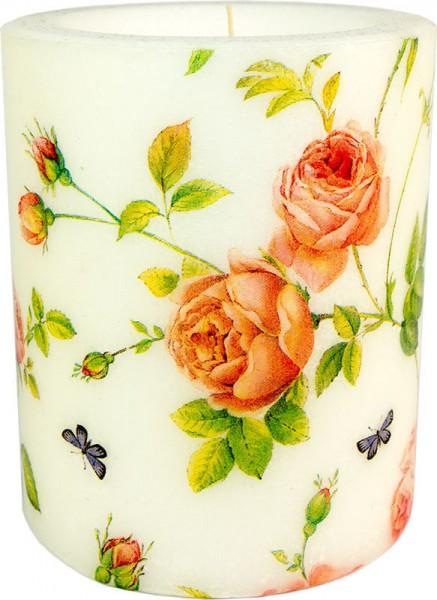 """Windlicht-Kerze """"New Rampling Rose"""" Größe S / M / XL"""