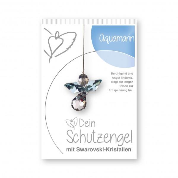 """""""Aquamarin"""" Schutzengel mit echten Swarovski-Kristallen"""
